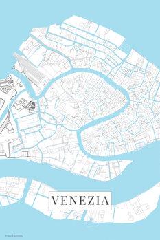 Mapa Venezia white