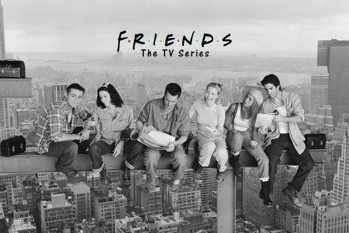 Plakat Venner - Frokost på en skyskraber