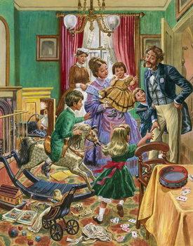 Kunstdruk Victorian nursery