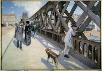 Obrazová reprodukce View of the Pont de l'Europe in Paris in 1876