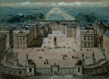 View of Versailles Reproduction de Tableau