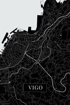 Mapa Vigo black
