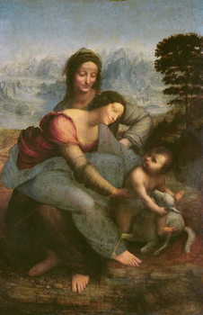 Virgin and Child with St. Anne, c.1510 Reproduction de Tableau