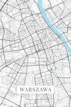 Mapa Warzsawa white