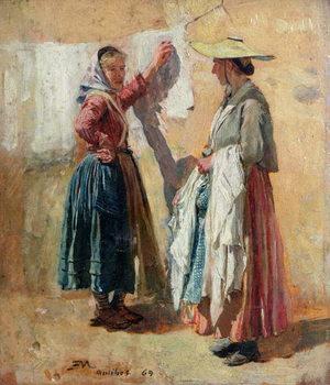 Washerwomen in Antibes, 1869 Kunstdruck