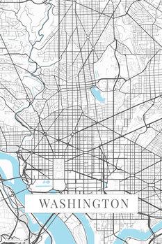 Mapa Washington white