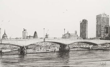 Obrazová reprodukce  Waterloo Bridge London, 2006,