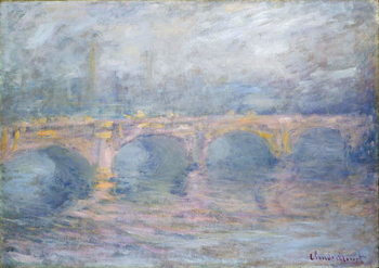 Waterloo Bridge, London, at Sunset, 1904 Kunsttryk