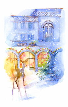 Obrazová reprodukce West Elm at Christmas, 2016,