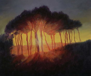 Wild Trees at Sunset, 2002 Kunsttryk