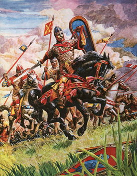 Obrazová reprodukce  William the Conqueror at the battle of Hastings