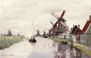 Obrazová reprodukce  Windmill in Holland, 1871