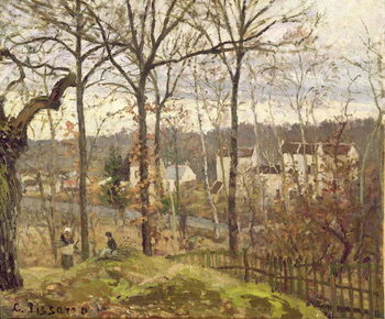 Winter Landscape at Louveciennes, c.1870 Reproduction de Tableau
