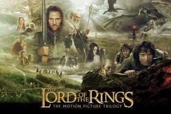 Plakat Władca Pierścieni - Trylogia
