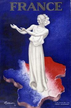 Konsttryck Woman representing France
