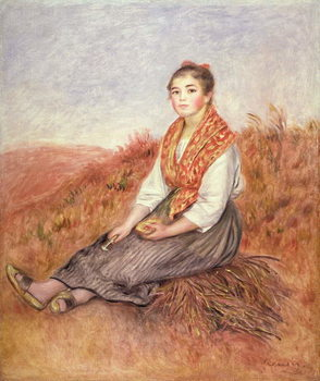 Reprodukcija umjetnosti Woman with a bundle of firewood, c.1882