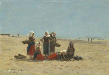 Umelecká tlač Women on the Beach at Berck, 1881