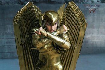 Konsttryck Wonder Woman 84 - Golden