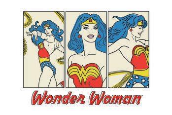Konsttryck Wonder Woman- Comics