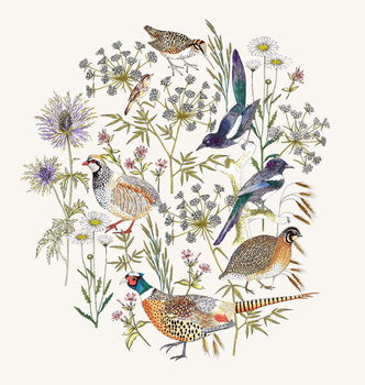 Woodland Edge Birds Placement Obrazová reprodukcia