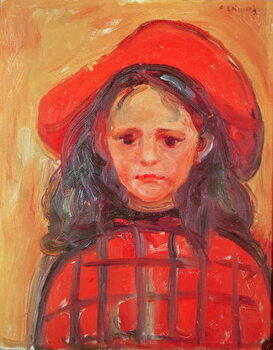 Obrazová reprodukce Young Girl in a Red Hat
