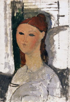 Young Woman, Seated, c.1915 Kunstdruck