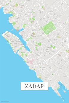 Kaart Zadar color