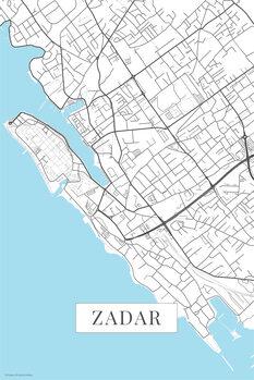 Mapa Zadar white