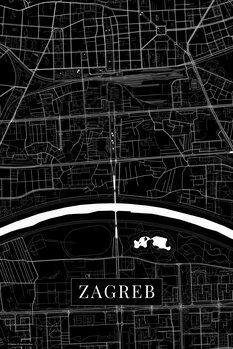Mapa Zagreb black