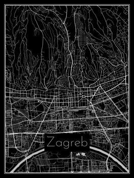 Kaart van Zagreb