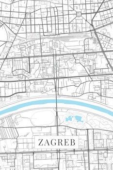 Mapa Zagreb white