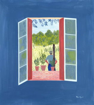 Zaid Through the Window, 1986 Kunstdruk