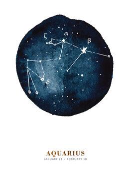 Ilustrace Zodiac - Aquarius