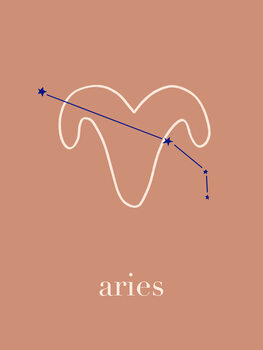 Ilustratie Zodiac - Aries - Terracotta