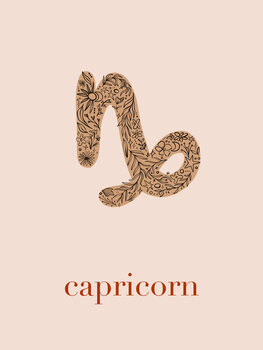 Ilustratie Zodiac - Capricorn - Floral Blush