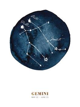 Ilustracija Zodiac - Gemini