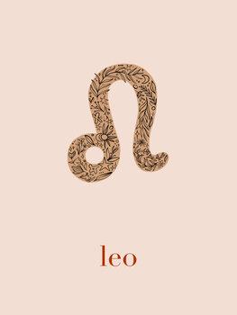 Ilustratie Zodiac - Leo - Floral Blush