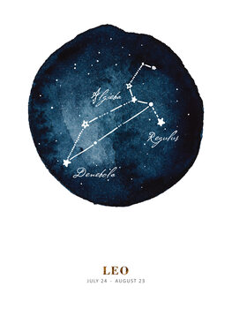 Ilustrace Zodiac - Leo