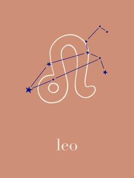 Ilustratie Zodiac - Leo - Terracotta