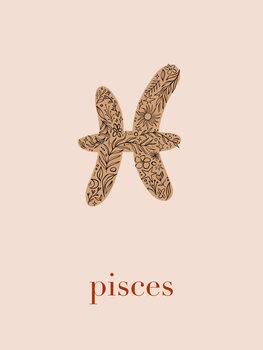 Ilustratie Zodiac - Pisces - Floral Blush