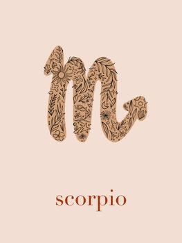 Ilustratie Zodiac - Scorpio - Floral Blush