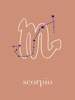Ilustratie Zodiac - Scorpio - Terracotta