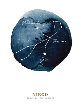 Ilustrace Zodiac - Virgo