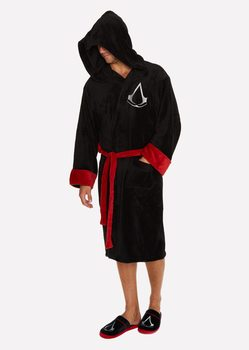 badekåpe Assasins Creed - Black Robe Logo