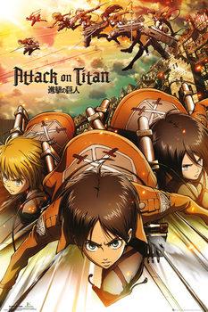 Attack on Titan (Shingeki no kyojin) - Attack - плакат (poster)