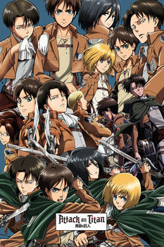 Attack on Titan (Shingeki no kyojin) - Collage - плакат (poster)
