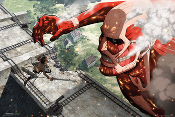 Attack on Titan (Shingeki no kyojin) - Titan плакат
