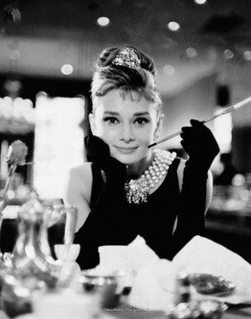 Audrey Hepburn - breakfast at tiffany's - плакат (poster)
