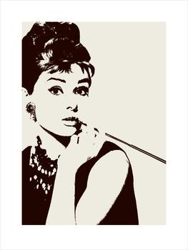 Audrey Hepburn - cigarello Festmény reprodukció