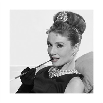 Audrey Hepburn - Cigarette  Festmény reprodukció